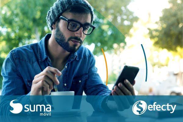 SUMA móvil - Noticia: SUMA móvil incorpora la red de Efecty a su actual red de recargas