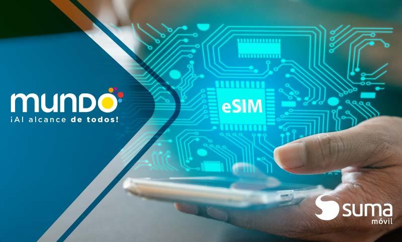 SUMA móvil - Noticia: Mundo Pacífico el primer OMV en ofrecer servicio eSIM