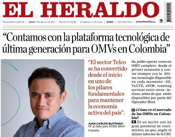 SUMA móvil - Noticia: El Heraldo entrevista a Juan Carlos Buitrago