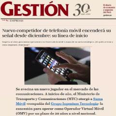SUMA móvil - Noticia: Nuevo competidor de telefonía móvil encenderá su señal desde diciembre: su línea de inicio